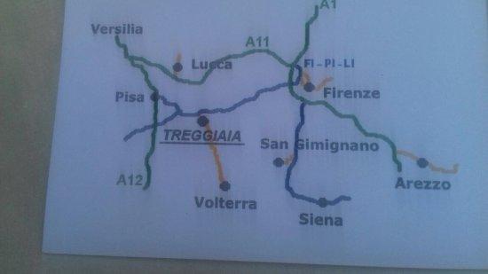 Santa Lucia, Italy: La mappa geografica intorno, l'alba, il panorama mozzafiato...