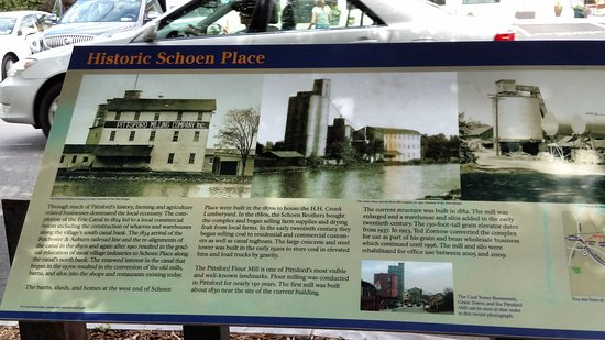 Signage @ Village of Pittsford Erie Canal Park - Picture of Erie ...