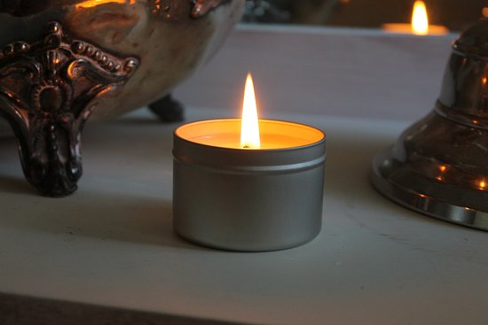 Anstruther, UK: This is the travel candle you will make at your candle making workshop.
