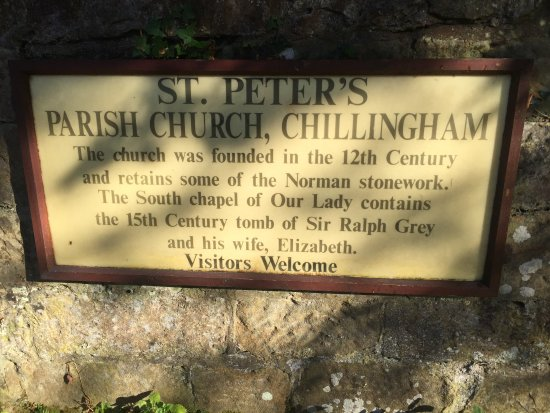 Chillingham Castle: St. Peter's Parish Church on the grounds of Chillingham