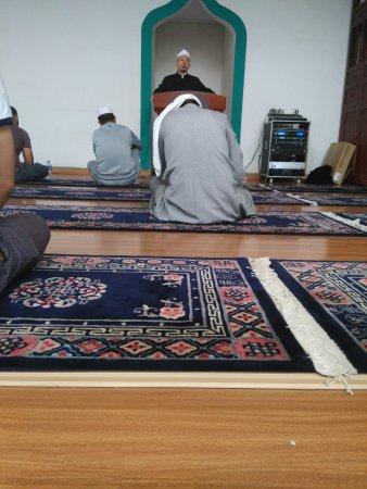 Nanchang Mosque inside view of Juma prayer