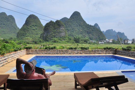 Yangshuo Tea Cozy: Brand new swimming pool at Tea Cozy