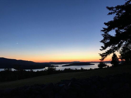 Γκρίνβιλ, Μέιν: Sunset along Moosehead lake