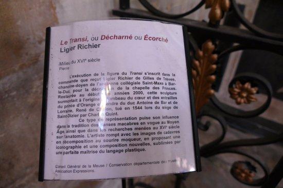 Bar-le-Duc, França: EXPLICATIONS
