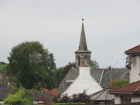 Carnock, UK: Spire over the rooftops