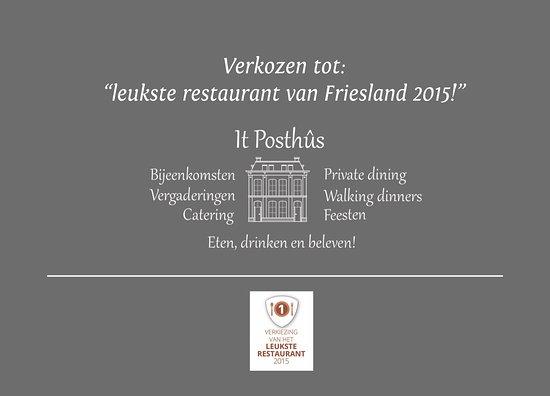 Makkum, Nederländerna: It Posthûs eten, drinken & beleven