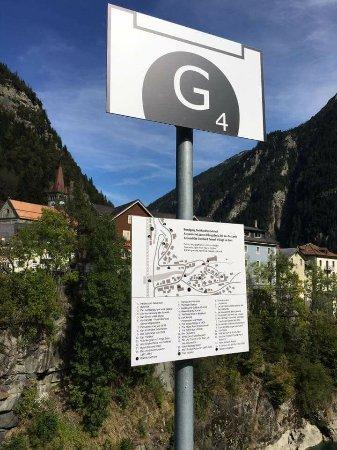 Goschenen, Швейцария: Rundgang Gotthardtunneldorf Göschenen Station 4 Visierstollen