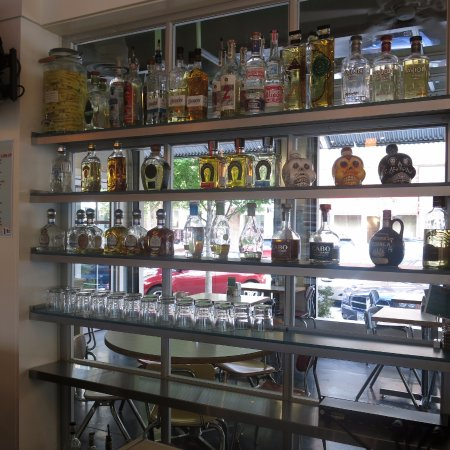 Pure Taqueria: Interesting selection of spirits, some infused. Not like our Cantina, though, in downtown St. Pe