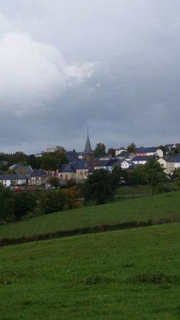 Byn Munshausen (Munsen) uppe på en platå.