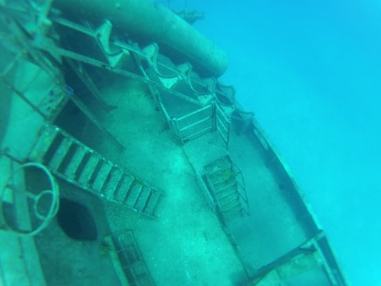 Kittiwake Shipwreck & Artificial Reef: Upper area of the USS Kittiwake