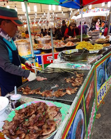 Jeongeup, Corea del Sur: A small festival was going on