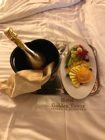 Golden Tower Hotel & Spa: Surprise compliments of our stay!