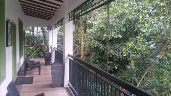 Aanavilasam Luxury Plantation House: the balcony of the suite