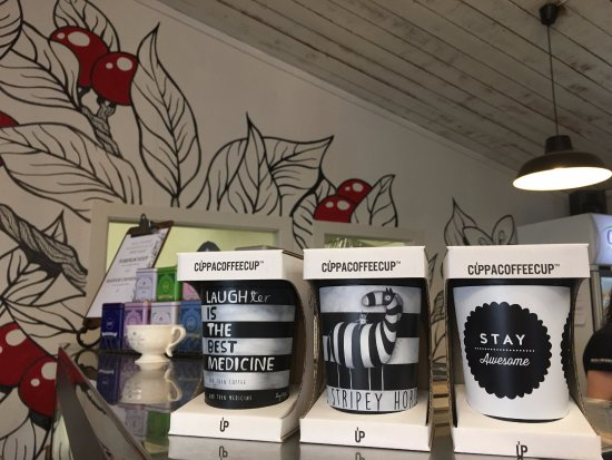 Cambridge, Nuova Zelanda: We retail reusable and recyclable takeaway coffee cups