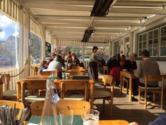 Räucherhaus: Leckeres Mittagessen bei tollem Herbstwetter