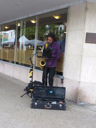 Nelson, Canada: a Busker