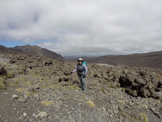 Tongariro Alpine Crossing: About 1/2 way up Devil's Staircase