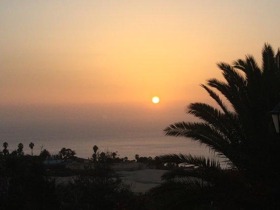 Finca El Moral: Ondergaande zon vanaf dakterras