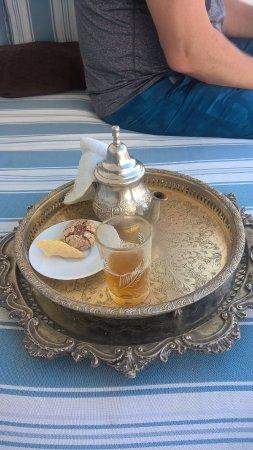 La Tangerina: Welcome tea in terrace