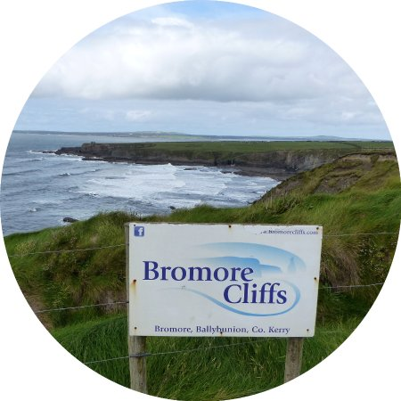 Bromore Cliffs: Bromore Cliff Sign