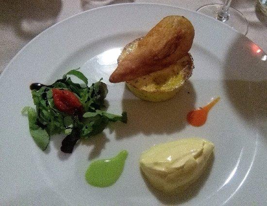 Invorio, Italy: tortino di zucchine con fiore di zucca fritto