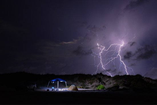 Padre Island National Seashore: We were camping by the dunes and a small storm blew in. Amazing place for a photographer!
