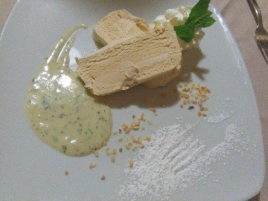 Invorio, Italy: semifreddo di liquirizia con crema alla menta