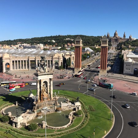 Catalonia Barcelona Plaza: View from top floor suites/roof top pool