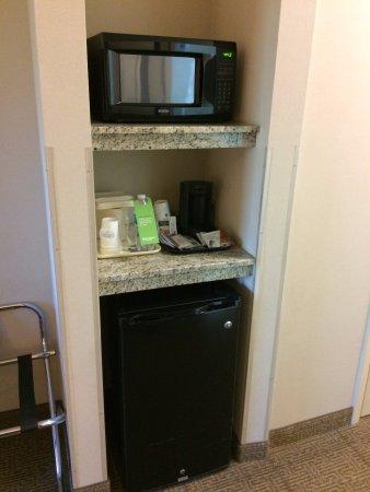 Cross Lanes, Virginia Occidentale: Microwave and Fridge