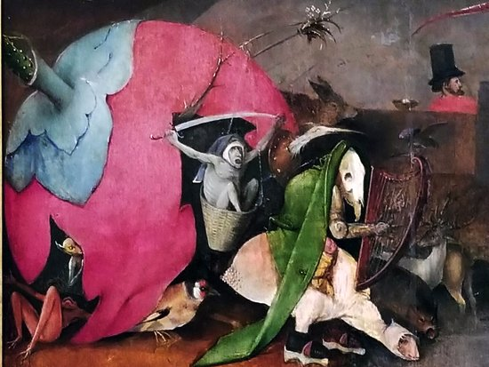 Museu Nacional de Arte Antiga: Detail of The Temptations of St. Anthony by Hieronymus Bosch,
