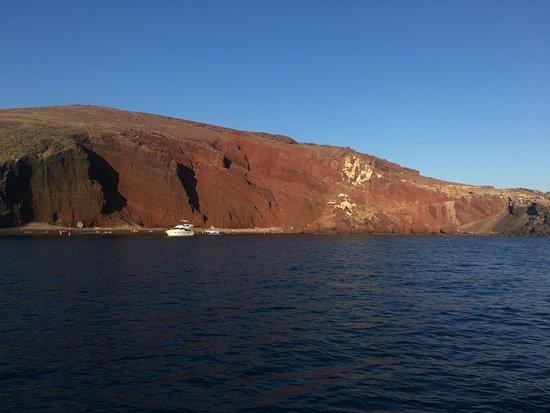 Firostefani, Hellas: View of Red Beach