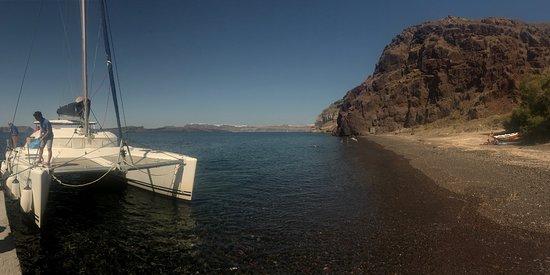 Firostefani, Hellas: Blue Lagoon -boarding the boat