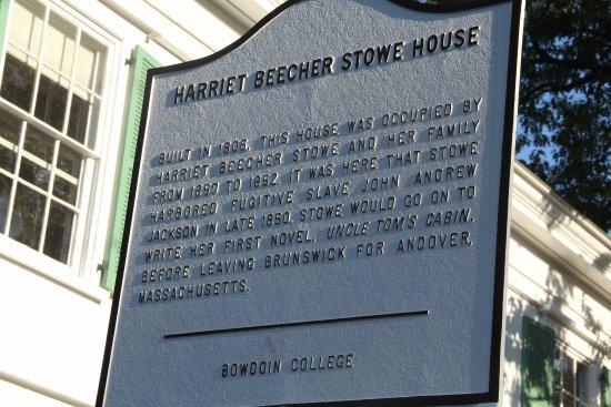 Harriet Beecher Stowe House: Marker for house