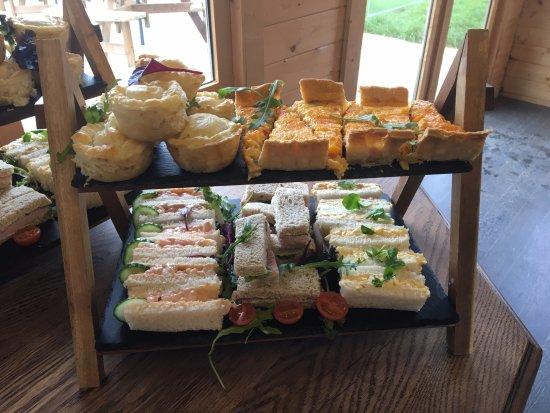 Nefyn, UK: Savoury tray of the Afternoon tea