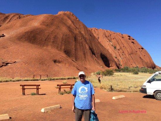 Northern Territory, Australië: Representing at Uluru.