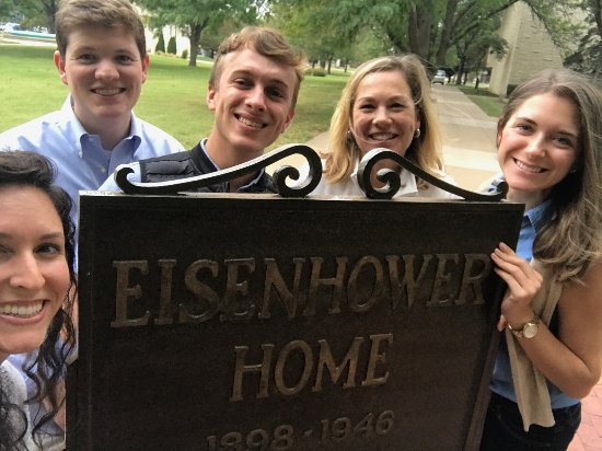 Abilene, KS: Stop at the historic Eisenhower Home and campus, Abeline.