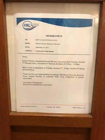 Honua Kai Resort & Spa: Beware: Loud tile work until Nov. 3, 2017.