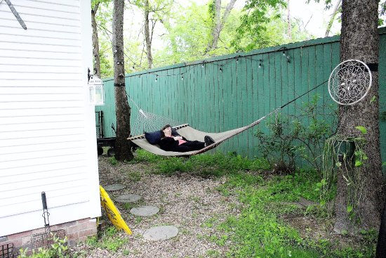 Jefferson, TX: My Friend relaxing after a rough night hunting Ghosts!