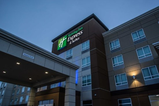 Spruce Grove, Canadá: Welcome to the Holiday Inn Express, in the Tri-Village development