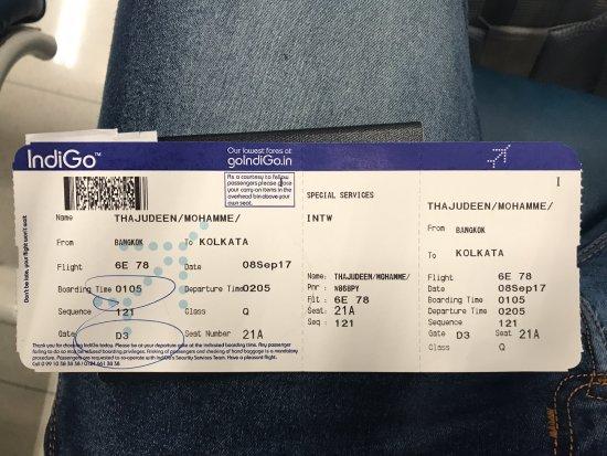 Boarding Pass Picture Of Indigo World Tripadvisor