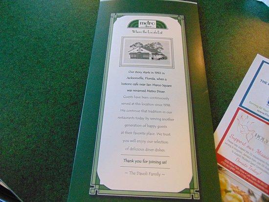 menu - Picture of Metro Diner, Las Vegas - TripAdvisor