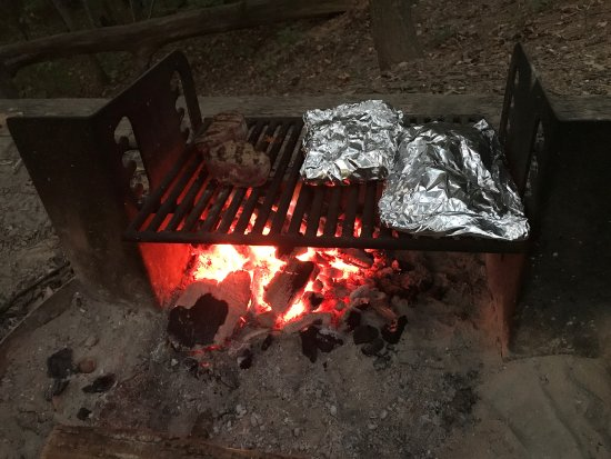 Chatsworth, GA: Grill with our dinner.