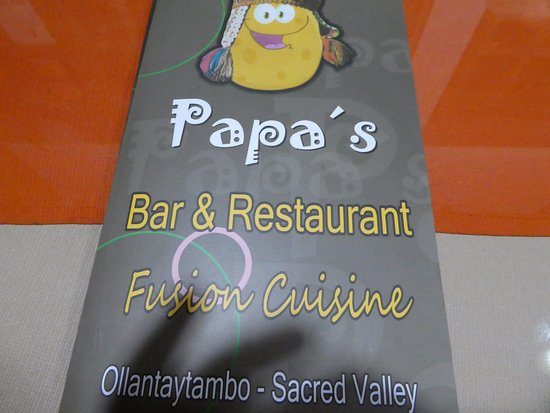 Papa's Andean Fusion Restaurant: Papa's Signage.