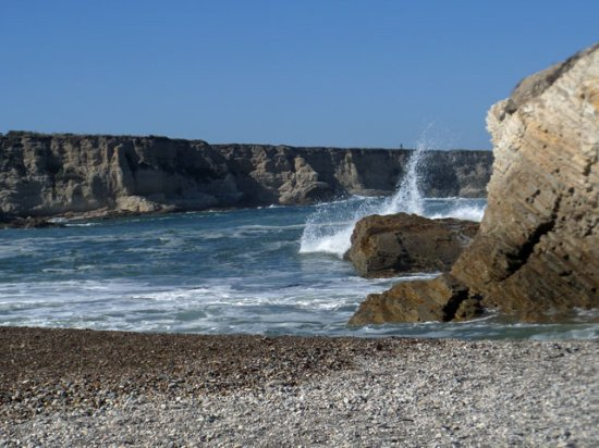 Los Osos, CA: the cove is a pleasant place to stroll the beach