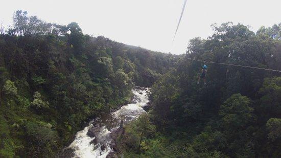 Hakalau, HI: Zipping through rain forests and waterfalls.