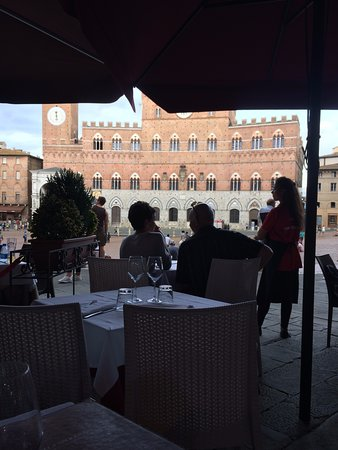 You can see the terrace of the restaurant.