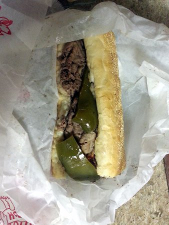 Harwood Heights, IL: the Portillo's beef sandwich - wet - with sweet peppers