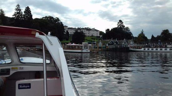 Bowness-on-Windermere, UK: The view of the boat hire