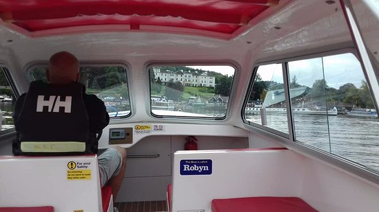 Bowness Bay Marina - Windermere Boat Hire: My Partner playing captain lol