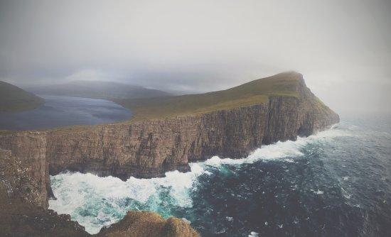 Vagar Island, Faroe Islands: Järvi meren yläpuolella